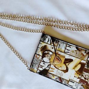 Vogue magazine crossbody bag small